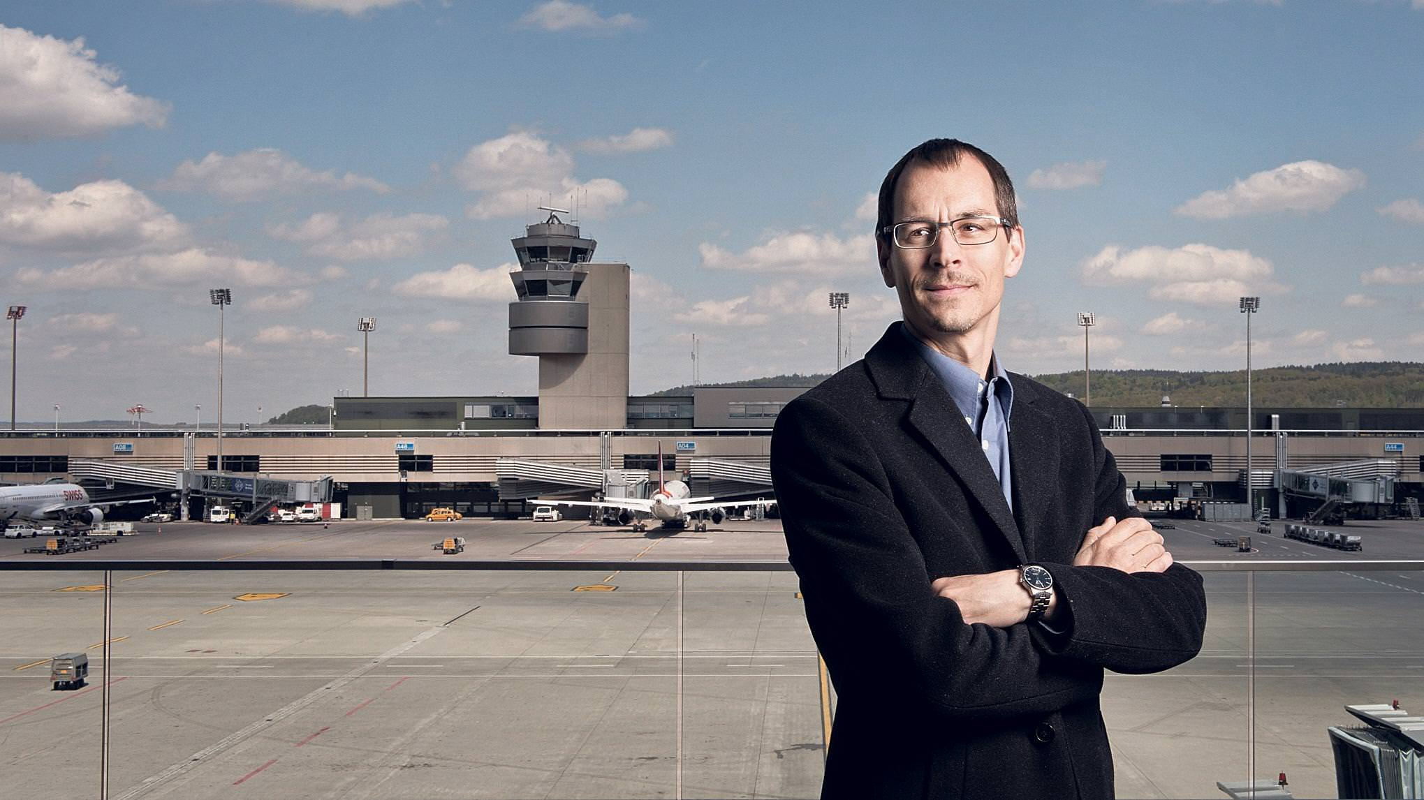 Andreas Wittmer at the airport