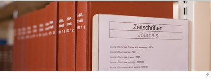 Collection of journals in the library